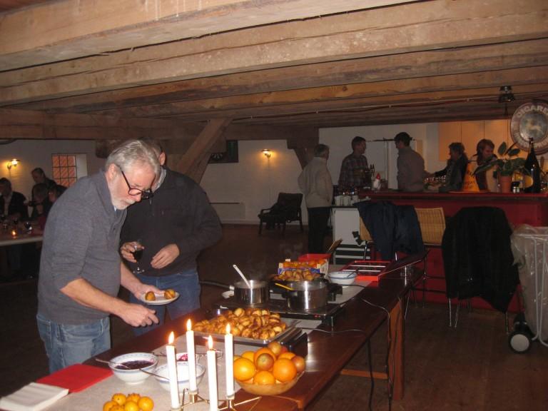 Mortens And med julegløgg